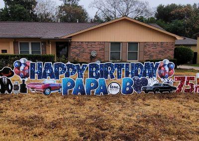 75th Happy Birthday Yard Signs