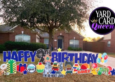 Birthday Celebration Lawn Signs For Rent