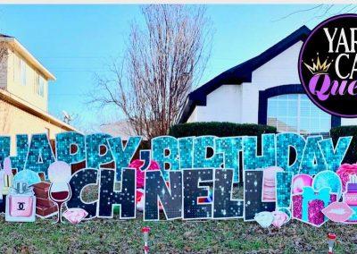 Happy Birthday Yard Sign For Rent in Allen, TX