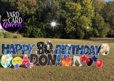Happy Birthday Grandparent Yard Sign