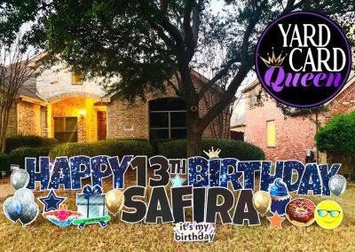 Happy Birthday Yard Sign in Allen, TX