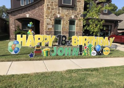 Allen, Texas Yard Sign Rental For Birthday