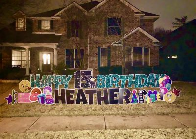 Happy Birthday Lawn Sign Rental