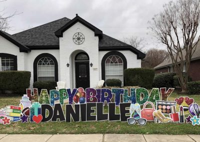 Custom Birthday Yard Sign Rentals