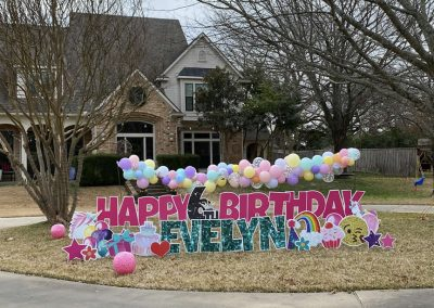 Yard Signs for Birthday Celebration