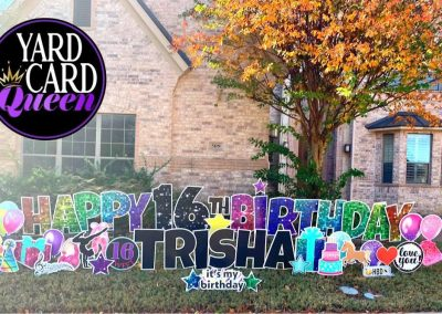 Sweet 16 Birthday Yard Sign Near Me