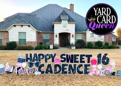 Happy Birthday Sweet 16 Yard Sign Celebration
