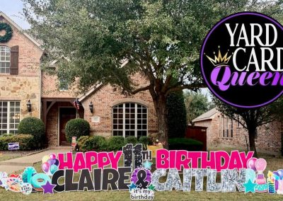 Happy Birthday Sign For Front Lawn