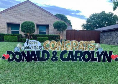 Anniversary Congrats Yard Sign Delivered