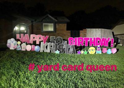 Happy 50th Birthday Yard Sign Rental Arlington Texas