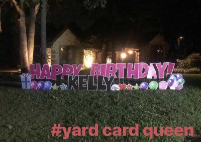 Birthday Sign Rental in Arlington Texas