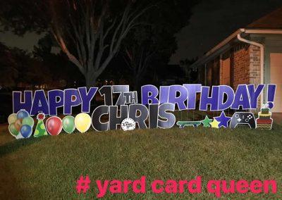 Birthday Yard Sign Rental in Arlington Texas