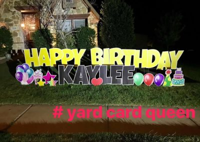 Happy Birthday Yard Sign Stakes
