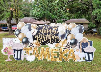 Balloon Yard Sign Happy Birthday