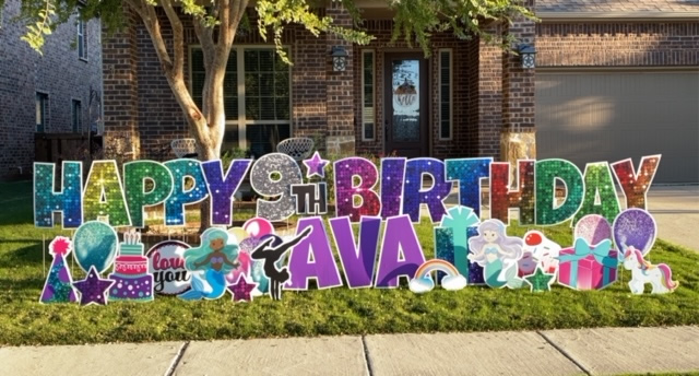 Birthday Celebration Yard Signs
