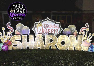 Birthday Queen Yard Sign