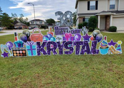 Birthday Yard Sign For Woman
