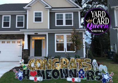 Congrats New Homeowners Yard Signs