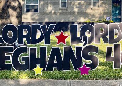 Happy 40th Birthday Yard Sign Rental Dallas, TX
