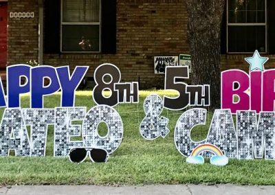 Birthday Celebration Yard Signs Near Me Dallas TX