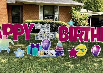 Large Yard Sign For Rent For Birthday