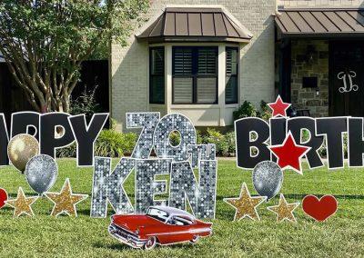 Happy Birthday Yard Sign Rental in DFW