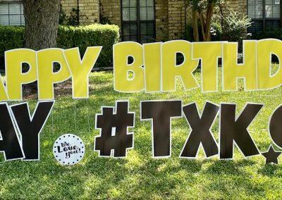 Personalized Happy Birthday Yard Sign Rental
