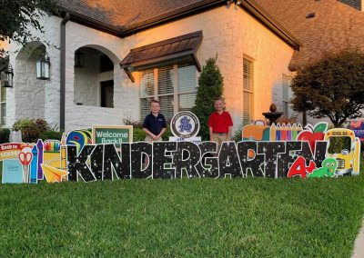 First Day of School Kindergarten Yard Sign