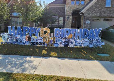Football Team Birthday Yard Signs