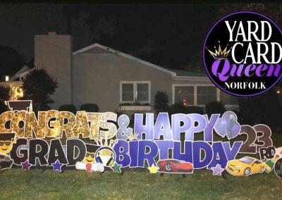 Graduation Happy Birthday Yard Signs