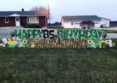Grandparent Happy Birthday Yard Signs