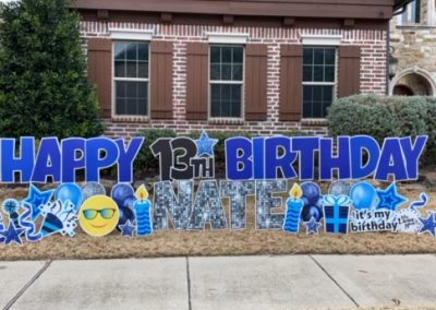 Happy Birthday Boy Yard Signs