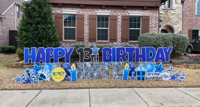 Happy Birthday Boy Yard Signs