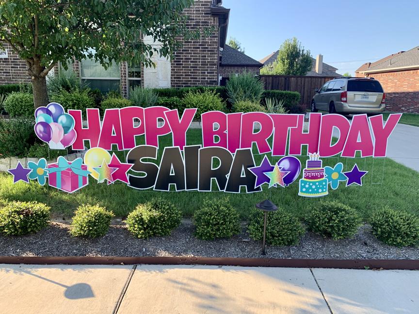Happy Birthday Celebration Yard Sign