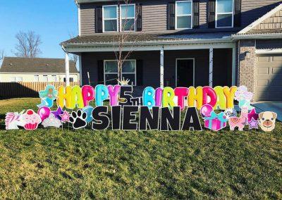 Happy Birthday Celebration Yard Signs