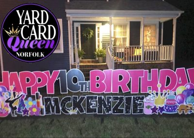 Happy Birthday Lawn Letters Near Me