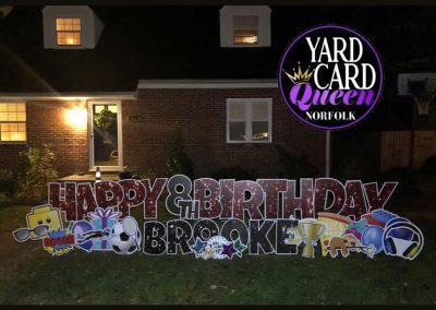 Happy Birthday Yard Art Signs