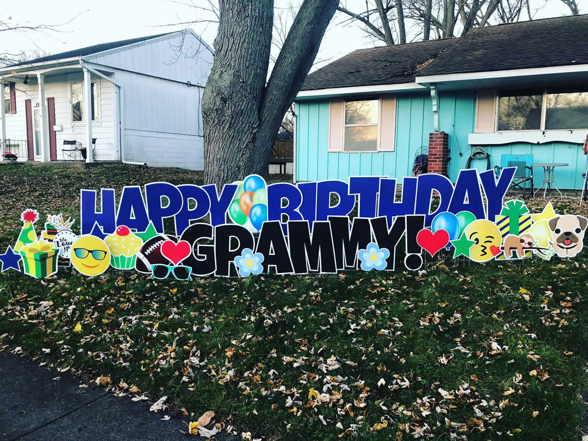 Happy Birthday Yard Sign For Grandparent
