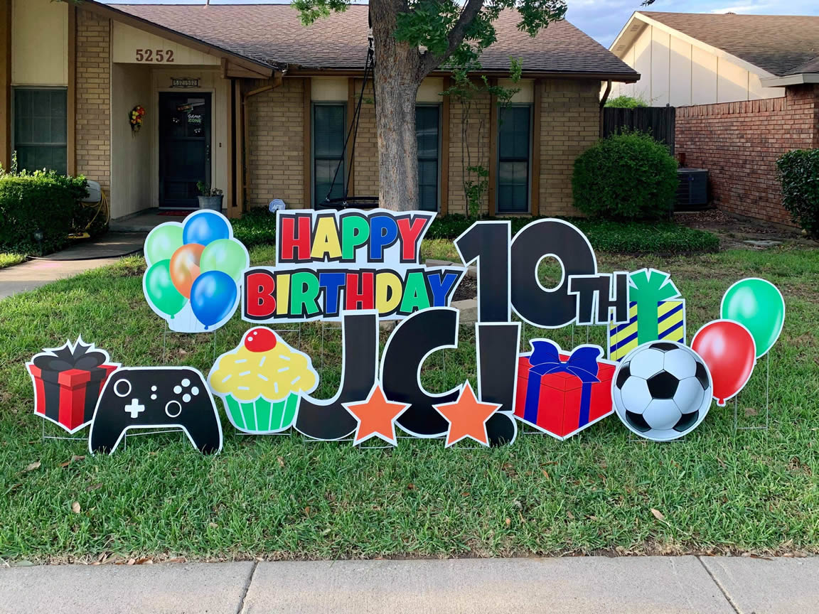 Happy Birthday Yard Sign McKinney, Texas