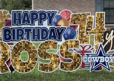 Happy Birthday Yard Signs Dallas Cowboys