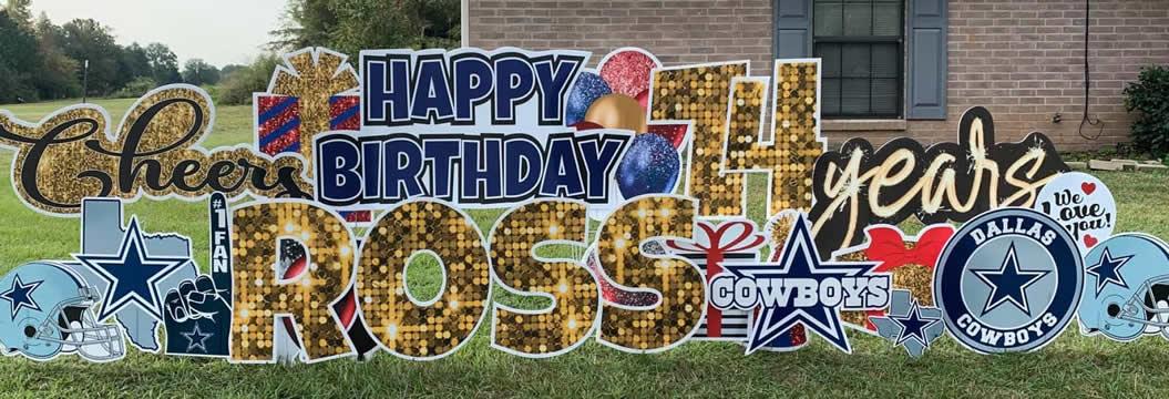 Happy Birthday Yard Signs Dallas