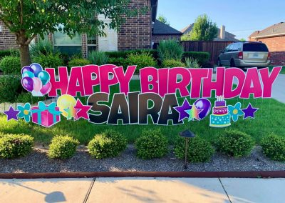Happy Birthday Yard Signs DFW Area