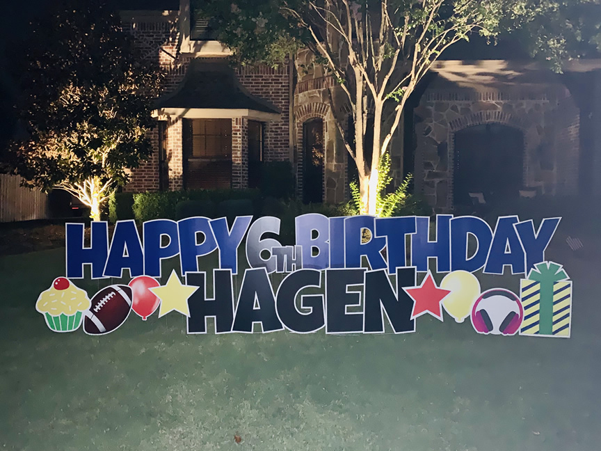 Happy Birthday Yard Signs Hampton Georgia