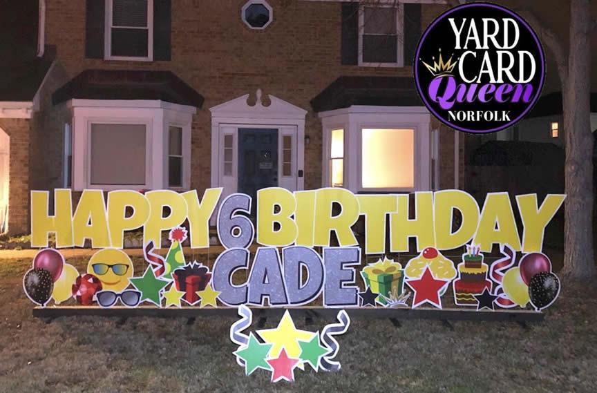 Happy Birthday Yard Signs Norfolk