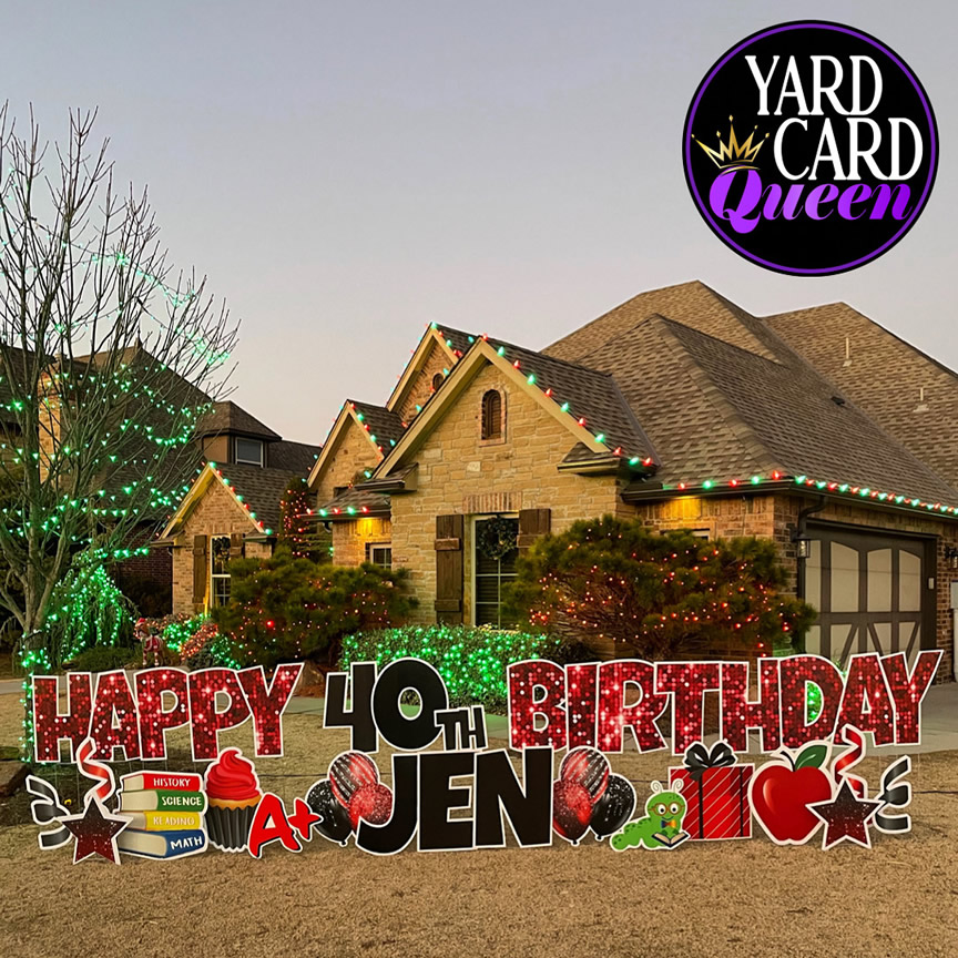 Happy Birthday Yard Signs With Name