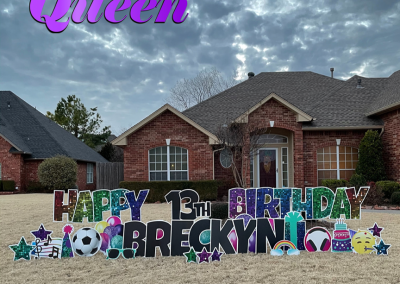 Happy Birthday Yard Signs With Stakes