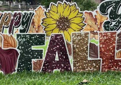 Happy Fall Yard Signs