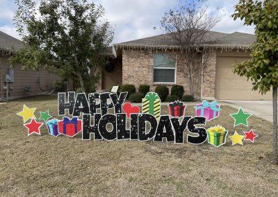 Happy Holidays Yard Sign Near Me