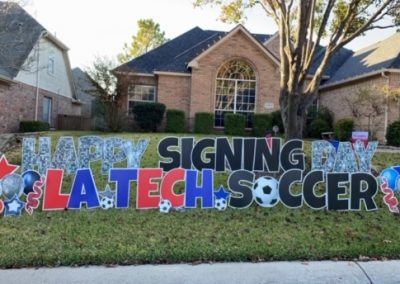 Happy Signing Day Yard Sign Large