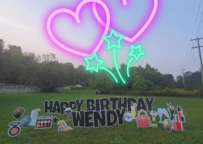 Happy Birthday Yard Sign Rental Company